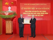 Party chief receives 50-year Party membership badge