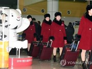 DPRK cheer team arrives in RoK for Winter Olympics