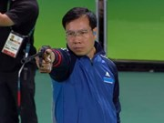 Hoang Xuan Vinh ranks second in 10m air pistol shooting worldwide
