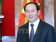 President Tran Dai Quang hails political relations with India