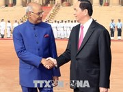 Vietnamese President meets with Indian counterpart