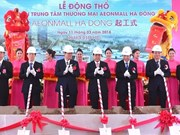 Construction started on another AEON mall in Hanoi