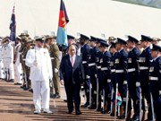 Grand welcome ceremony for PM Nguyen Xuan Phuc in Australia