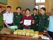 Ha Tinh border guard busts drug smuggler from Laos