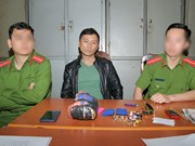 Drug smuggler caught in Hoa Binh province