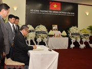 Embassies hold ceremonies commemorating former PM Phan Van Khai