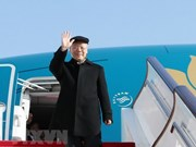 Party leader leaves Hanoi for official visit to France