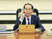 President Tran Dai Quang holds phone talks with Russian President