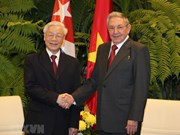 Party chief Nguyen Phu Trong has talks with Cuban leader Raul Castro