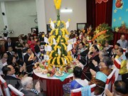 Lao traditional New Year celebrated in Hanoi