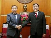 Vietnamese, Lao fronts discuss enhanced ties