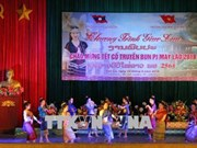 Lao students in Son La enjoy traditional Bunpimay Festival