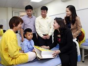 Gifts presented to children with cleft lip, palate