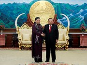Lao leaders host Vietnamese National Assembly delegation