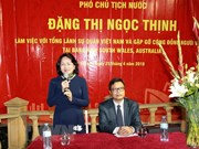 Vice President meets Vietnamese expats in Australia