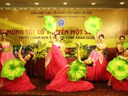 Asian traditional New Year celebrated in Hanoi