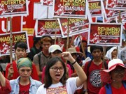 Indonesia: Workers, activists mark May Day with rallies