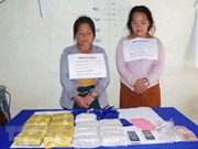 Two Lao traffickers caught for carrying 34,000 meth pills