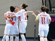 Vietnam face Indonesia in AFC's women futsal champ quarter-finals