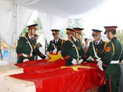 Quang Tri reburies martyrs' remains repatriated from Laos
