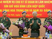 Vietnam sends seven more officers to UN peacekeeping mission