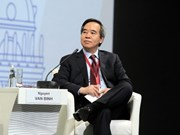 Party official delivers speech at Russia's Int'l Economic Forum
