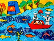 Da Nang exhibition showcases disabled kids' paintings