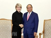PM Nguyen Xuan Phuc receives Australian FM Julie Bishop