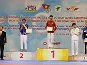 Vietnamese athlete wins gold medal at Asian Taekwondo Champs