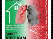 Stamps issued to promote anti-smoking efforts