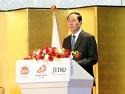 President Tran Dai Quang receives Japanese lower house official