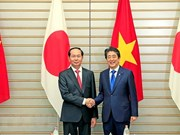 Japanese media covers talks between President, Japanese PM
