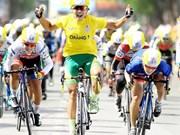Cyclist Nguyen Thi That wins Belgium cycle race