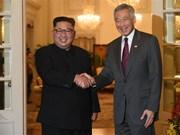 Singaporean PM welcomes DPRK leader
