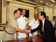 HCM City leader receives foreign military attache delegation in Vietna