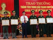 Quang Binh awards units, individuals for smashing two drug cases