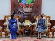 Vice President Dang Thi Ngoc Thinh active in Laos