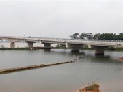Viet Tri- Ba Vi bridge on Red River has last sections joined
