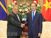 President Tran Dai Quang meets Nauru President