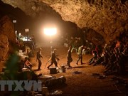 Thai PM visits cave where search for 13 trapped continues
