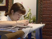 Vietnamese hand embroidered art pieces