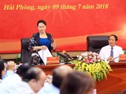 NA Chairwoman gives direction in Hai Phong
