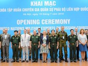 Training course on UN peace-keeping mission launched
