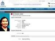 International warrant issued for female drug trafficker