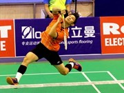 VN star enters semi-finals of Singapore Badminton Open