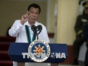 Philippine President vows to pursue fight against drug