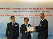 Winners of Alexandre Yersin Award honoured