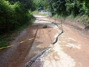 Hoa Binh: subsidence on roads due to torrential rains