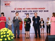 Vietnam's 1,000 biggest tax payers announced