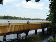 Hue to inaugurate pedestrian road along Huong riverbank in Sept